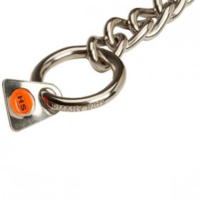 """No Issues"" 3 mm Stainless Steel Dog Choke Chain Collar for Short Haired Dogs"