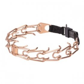 """Aggression Buster"" 4 mm Curogan Herm Sprenger Prong Collar with Security Buckle"