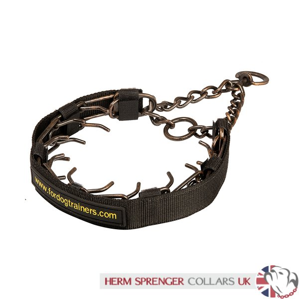 """Antique Treasure"" Herm Sprenger Ultra Plus Prong Training Dog Collar 4 mm Antique Steel"